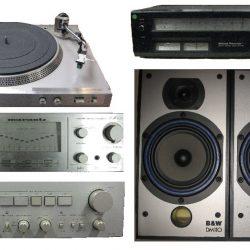Vintage-audio bij de kringloopwinkel
