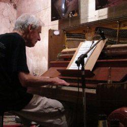 Jazzpianist Burton Greene bij Slothoeve Egmond aan den Hoef